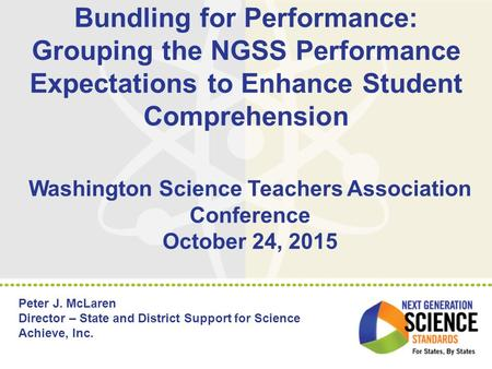 Washington Science Teachers Association Conference October 24, 2015
