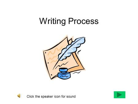 Writing Process Click the speaker icon for sound.