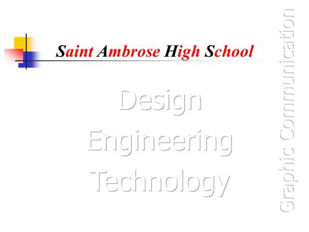 Saint Ambrose High School. 2 Point Perspectives 2 Point Perspectives are one of the forms of 3D views that you need to know about in the Standard Grade.