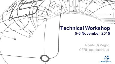 Technical Workshop 5-6 November 2015 Alberto Di Meglio CERN openlab Head.