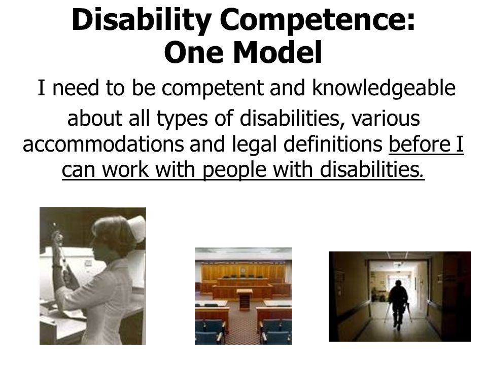 Disability Humility: A New Model When I meet someone with a disability, I will be open, creative, respectful, and ready to learn.