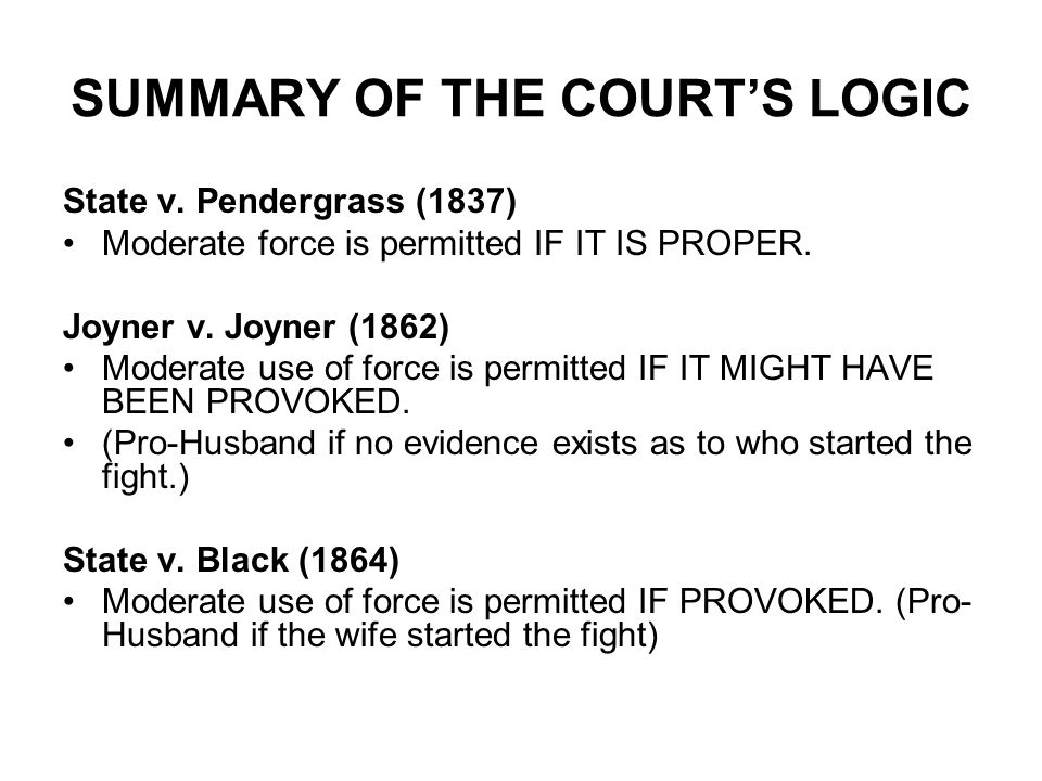 SUMMARY OF THE COURT'S LOGIC State v.
