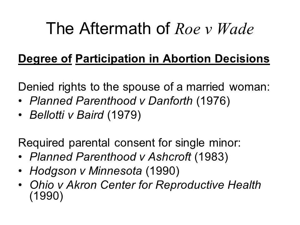 The Aftermath of Roe v Wade State and Federal Limits of Funding for Abortion Beal v.
