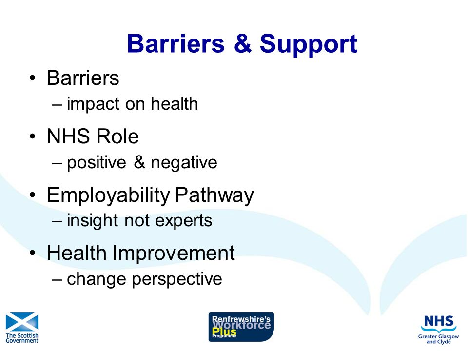 Role of Health Professionals When and how should health staff discuss employability with their patients.