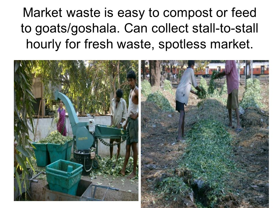 TRANSPORT SAVINGS EASILY PAY FOR DECENTRALISED BIO-BINS TO BIOCULTURE-TREAT WET WASTES Unload handcart drums into covered bio-bins instead of open waste-points or street dustbins or dumper-placers.