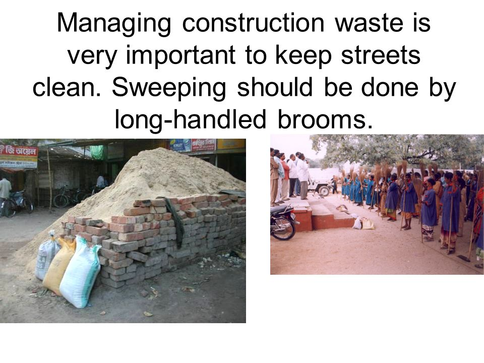 Decentralised waste mgt can use city spaces.