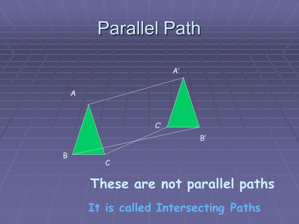 Parallel Path A B C A C B Which two letters form a parallel path.