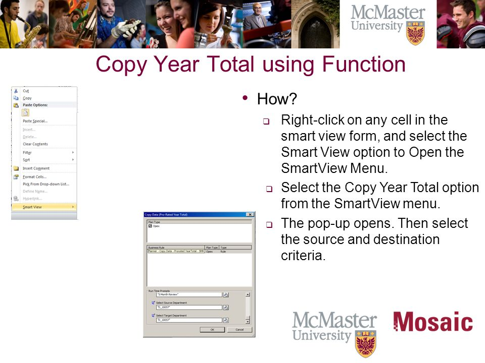 Copy Monthly values using Function  When to use.