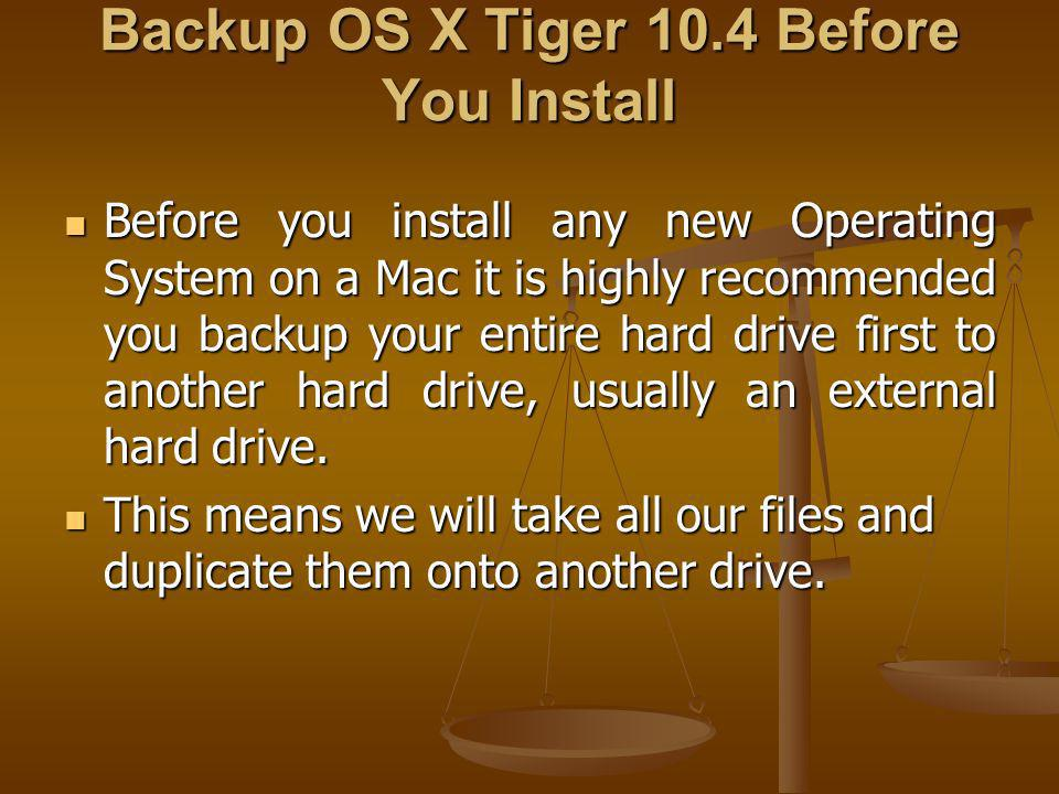 Time to Install Leopard! 1. Insert the OS X Leopard Install DVD into the Mac.
