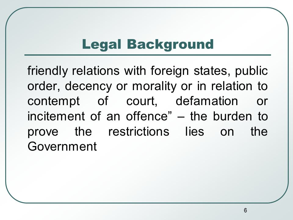 7 Legal Background Official secrecy legislation enacted in Britain in 1889, duplicated in India The Official Secrets Act, 1923 totally overridden by the FOI Act, 2003 – however, several provisions for exemptions and exceptions and powers of sweeping nature given to the government to add to them or interpret them – such provisions carry forward some of the tenets of the OSA, 1923