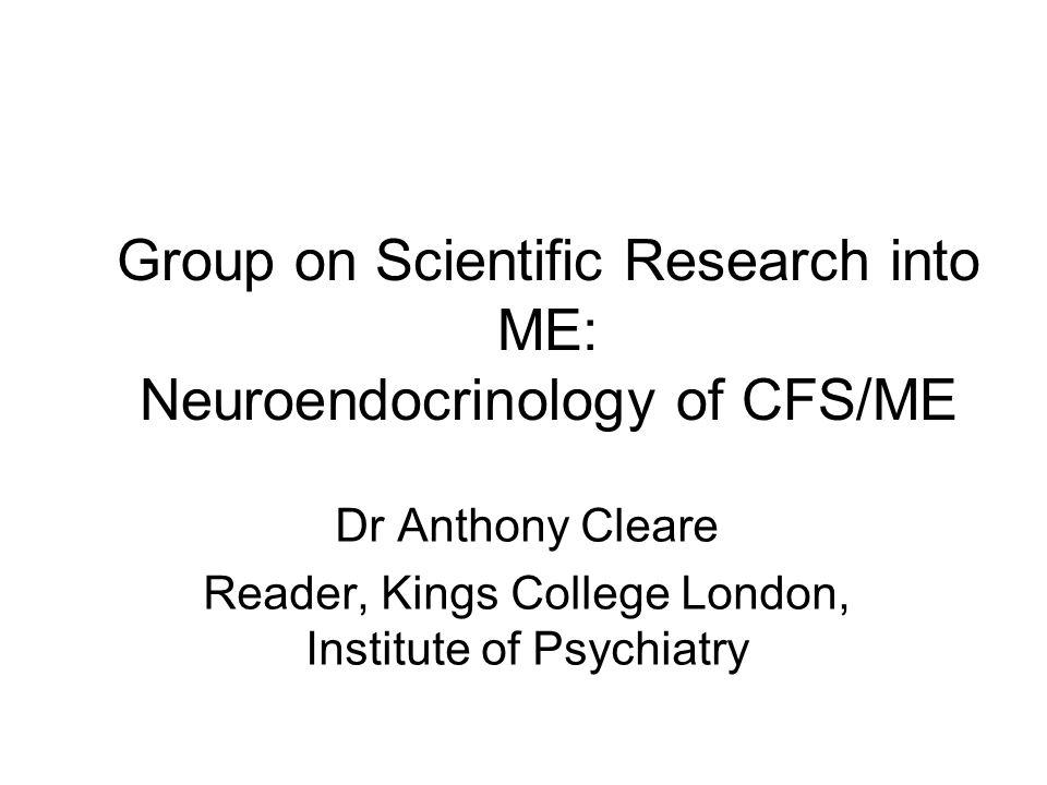Background Series of studies from our research group into the neuroendocrinology of CFS/ME, beginning in 1994 Focussing on the role of cortisol, the end product of the hypothalamo-pituitary-adrenal axis Original theory came from the known effects of low cortisol in other illnesses, including fatigue