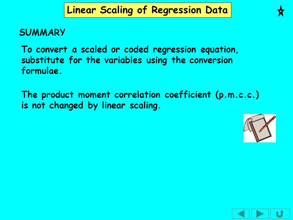 Linear Scaling of Regression Data Exercise 1.