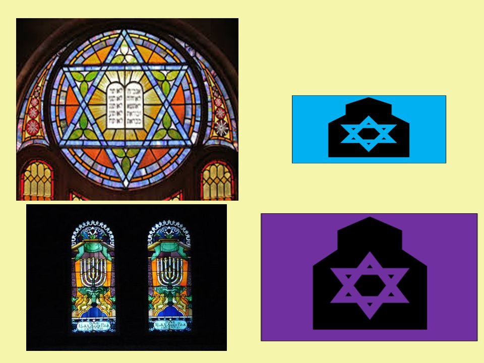 Stained Glass Windows Stained glass windows honour God by making the synagogue look beautiful.