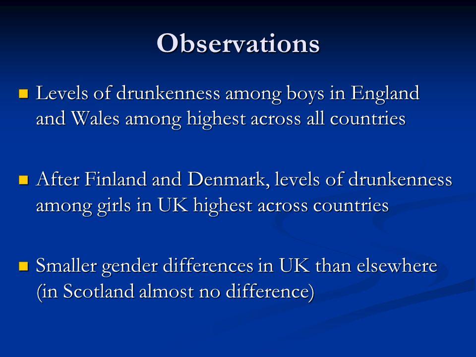 Drinking trends 1990-2006: Scotland *** * *