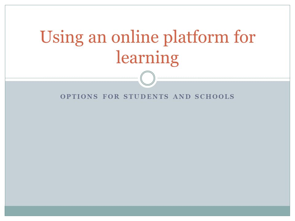 Why online courses.