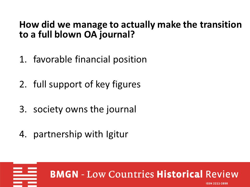 Are there lessons to be learnt from our case for other journals.