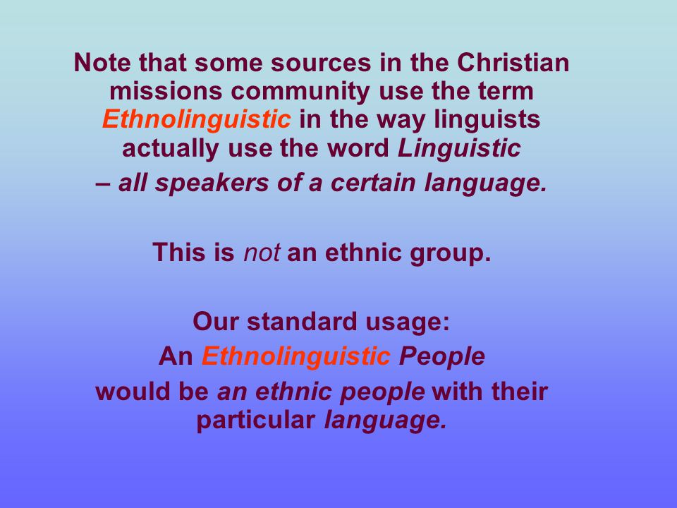 Various Demographic Categories applicable to any Ethnic Group and cutting across them Strata (also called Social Segments)