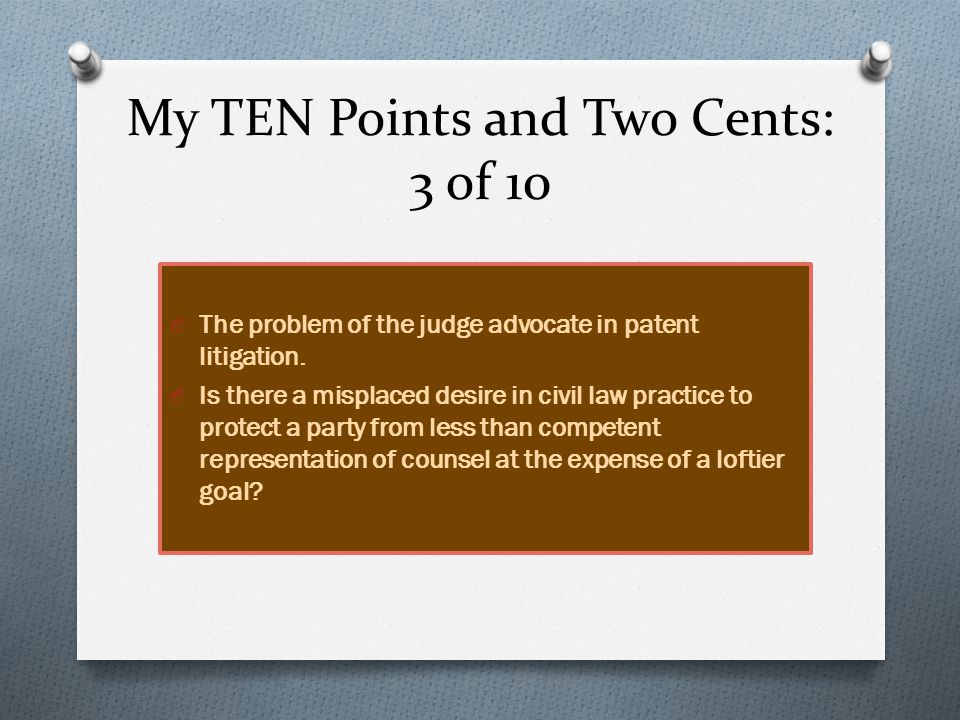 My TEN Points and Two Cents: 4 of 10