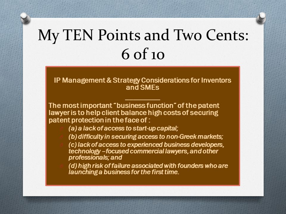 My TEN Points and Two Cents: 7 of 10 Lack of Experts problem and rational proposals.