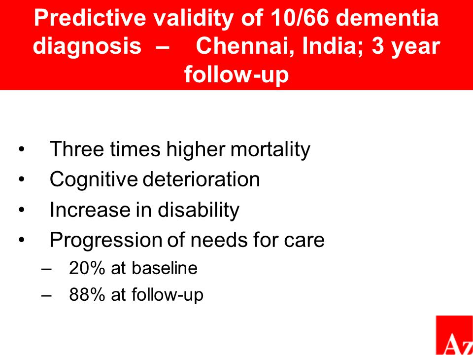 Survival by cognitive status – Chennai, India; 3 year follow-up Cognitively normal MCI Mild dementia Moderate/ severe dementia Follow up time in days