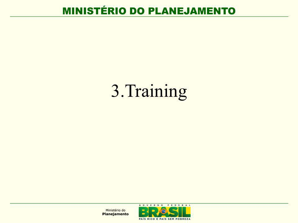 MINISTÉRIO DO PLANEJAMENTO 1.Beneficiaries : - Markets, public managers and partners that work with organizations linked to the market 2.