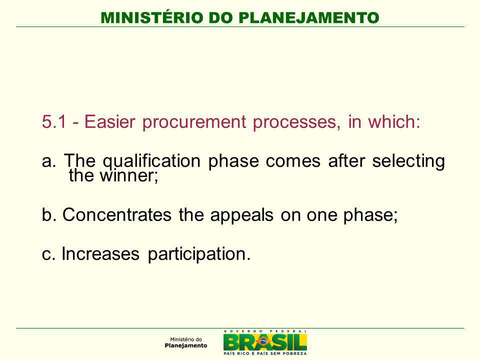 MINISTÉRIO DO PLANEJAMENTO The reverse auction, presential or eletronic, is a form of bidding, established in 2002, adopted for the purchase of common goods and services.