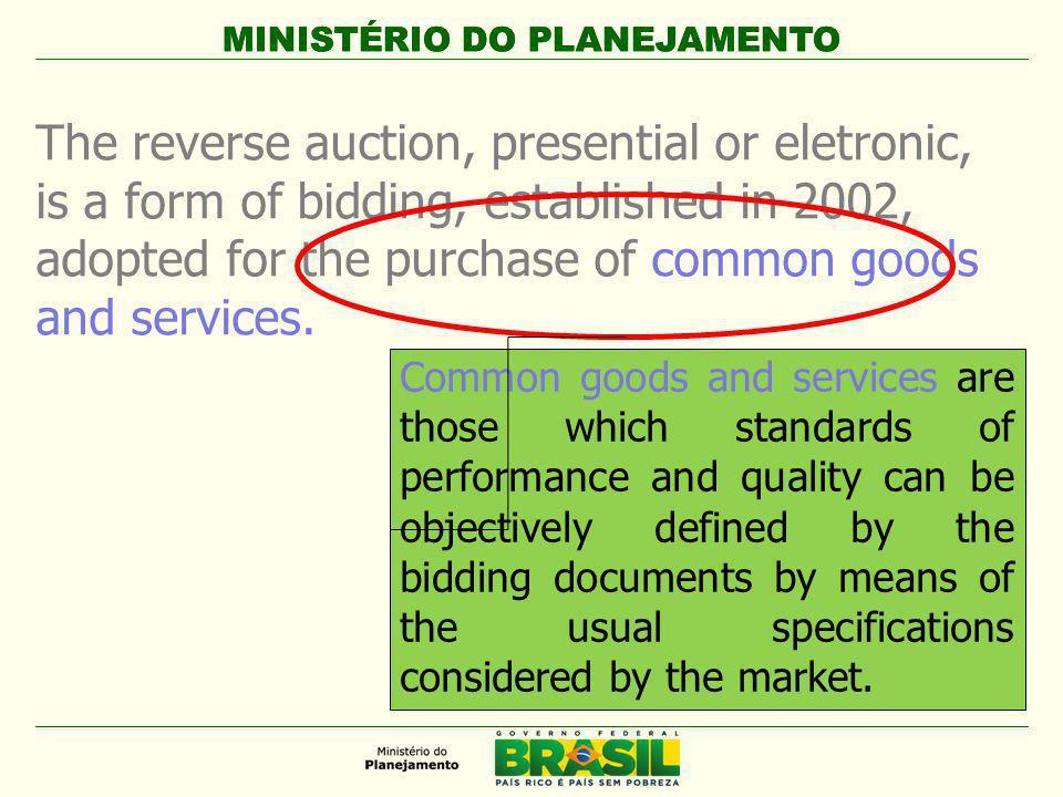 MINISTÉRIO DO PLANEJAMENTO 5.2 Standardization of product specifications