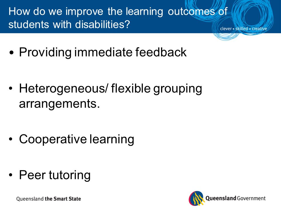 How do we improve the learning outcomes of students with disabilities.