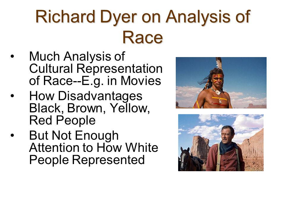 The Human Race How are Whites usually represented.