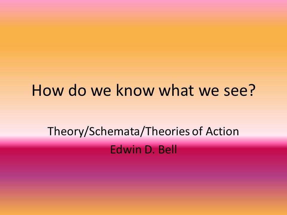 Vocabulary Theory Schemata Theories of Action
