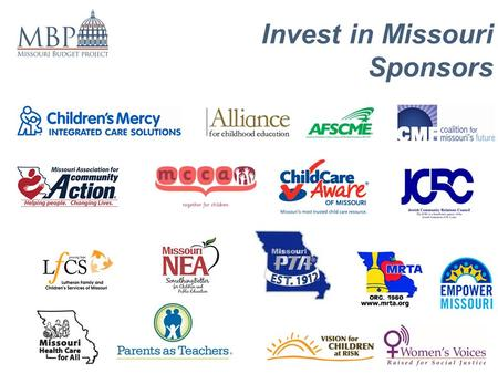 Invest in Missouri Sponsors. Invest in Missouri.