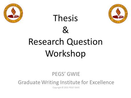 research question vs thesis statement A thesis statement is a sentence that tells your components of thesis statements topics vs thesis creating a thesis statement from a research question 1.