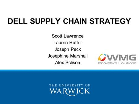 dell scm strategy Dell's innovation in supply chain management fueled its  is the top strategic  supply chain was the playbook for how dell .