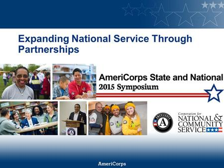 Expanding National Service Through Partnerships. A Strategy in Development.