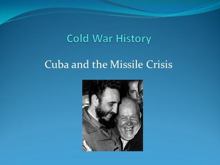 Cuba and the Missile Crisis. Cuban Revolution (1953-1959) resulted in the overthrow of Fulgencio Batista and the creation of a new communist government.