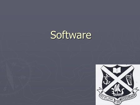 1 Software. 2 What is software ► Software is the term that we use for all the programs and data on a computer system. ► Two types of software ► Program.