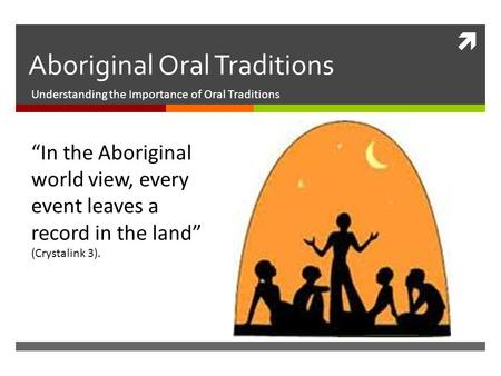 importance of oral tradition pdf