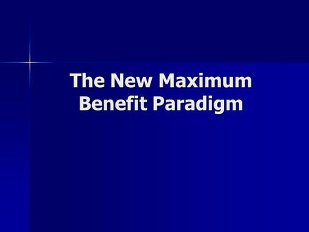 The New Maximum Benefit Paradigm. Common Issues with Other Basins and Other RWQCBs TDS, N and other water quality constituent objectives are common impediments.