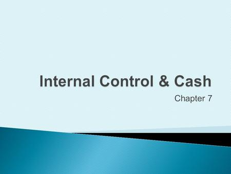 Chapter 7. Define internal control  Organizational plan and all the related measures to: 3 Copyright (c) 2009 Prentice Hall. All rights reserved. Safeguard.