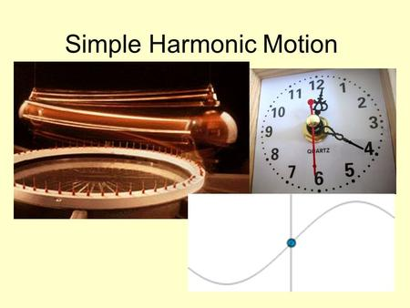 Simple Harmonic Motion. Definitions Periodic Motion – When a vibration or oscillation repeats itself over the same path Simple Harmonic Motion – A specific.