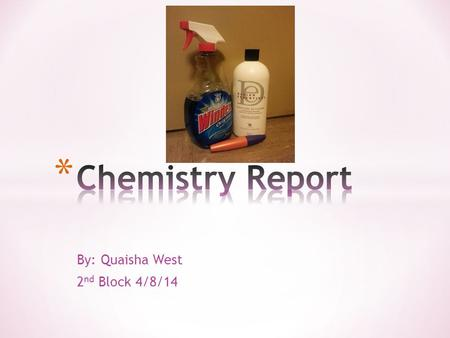By: Quaisha West 2 nd Block 4/8/14. * Glyceryl Stearate - Formula: C21H42O4 - 21 Carbons, 42 Hydrogens, and 4 Oxygens - Important Facts: 1. It is commonly.