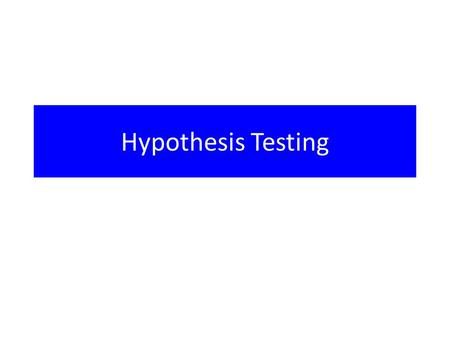 "Hypothesis Testing. ""Not Guilty"" In criminal proceedings in U.S. courts the defendant is presumed innocent until proven guilty and the prosecutor must."