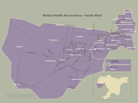 Mental Health Service Area – South West. Mental Health Service Area – Mid West.
