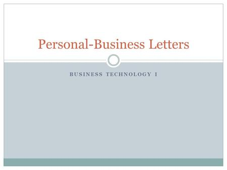 Personal Business Letters Mrs Cyndi Jackson Business Computer