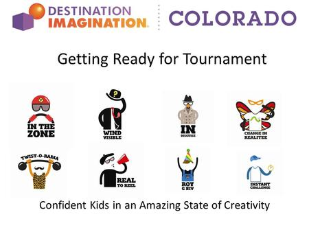 Getting Ready for Tournament Confident Kids in an Amazing State of Creativity.