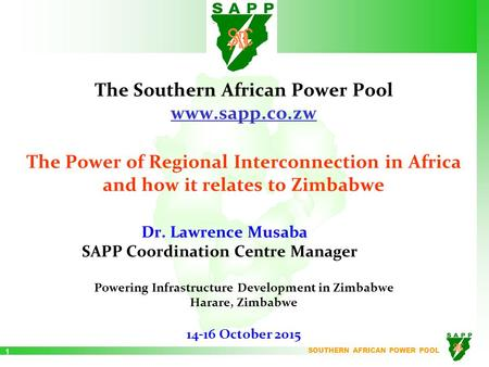 The Southern African Power Pool