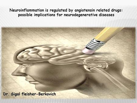 Dr. Sigal fleisher-Berkovich Neuroinflammation is regulated by angiotensin related drugs: possible implications for neurodegenerative diseases.