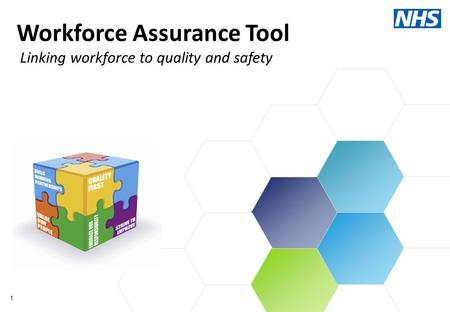 1 Workforce Assurance Tool Linking workforce to quality and safety.