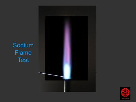 Harry Kroto 2004 Sodium Flame Test. © at: commons.wikimedia.org/wiki/File:Flametest--Na...commons.wikimedia.org/wiki/File:Flametest--Na...