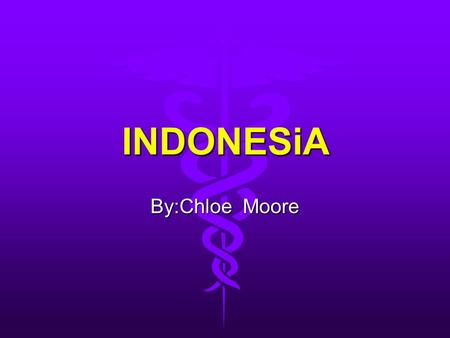 INDONESiA By:Chloe Moore INTRODUCTION The Dutch began to colonize Indonesia in the early 17th century; the islands were occupied by Japan from 1942 to.
